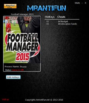 Football Manager 2015 Trainer +2 v15.3.2 {MrAntiFun}