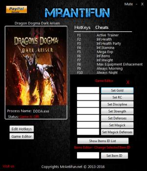 Dragons Dogma: Dark Arisen Trainer +17 v1.0 {MrAntiFun}