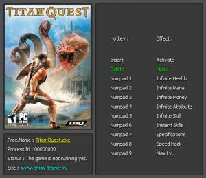 Titan Quest Trainer +9 v1.30 {Enjoy}