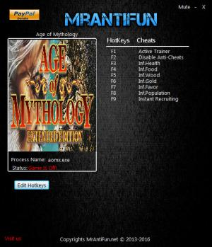 Age of Mythology: Extended Edition Trainer +8 v2.0.953557 {MrAntiFun}