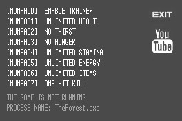 The Forest Trainer +7 v0.33 {LIRW GHL}