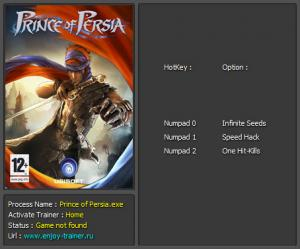 Prince of Persia 2008 Trainer +3 v1.0 {Enjoy}