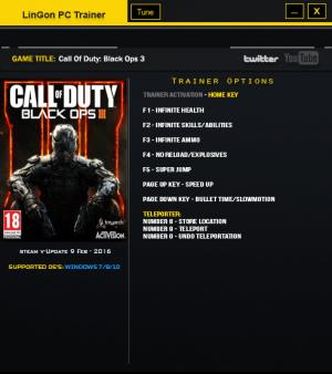 Call of Duty: Black Ops 3 Trainer +9 Update 7 {LinGon}