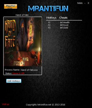 Hand Of Fate Trainer +3 v1.3.4 {MrAntiFun}