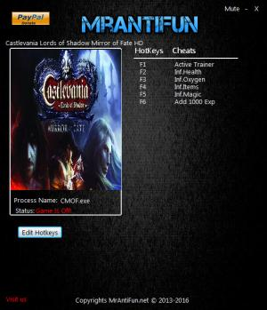 Castlevania: Lords of Shadow Mirror of Fate Trainer +5 v2.21.2016 {MrAntiFun}
