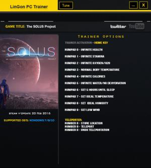 The Solus Project Trainer +12 Update 20 Feb {LinGon}