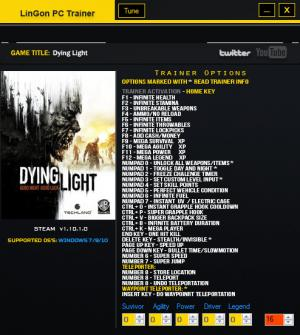 Dying Light: The Following Trainer +35 v1.10.01.0 {LinGon}