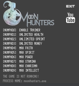 Moon Hunters Trainer +9 v1.0.1999 {LIRW GHL}