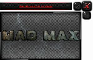 Mad Max Trainer +9 v1.0.1.1 - 1.0.3.1 {HoG}