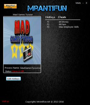 Mad Games Tycoon Trainer +3 v0.160303a {MrAntiFun}