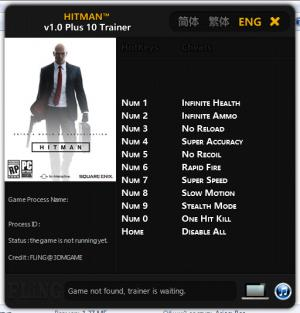 Hitman 2016 Trainer +10 v1.0 {FLiNG}