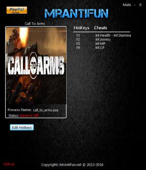 Call To Arms Trainer +5 v0.810 {MrAntiFun}