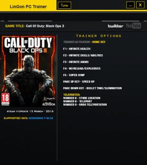 Call of Duty: Black Ops 3 Trainer +9 Update 12 {LinGon}