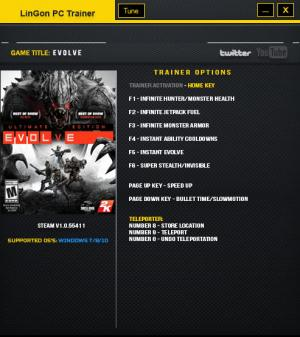 Evolve Trainer +10  Latest Steam {LinGon}