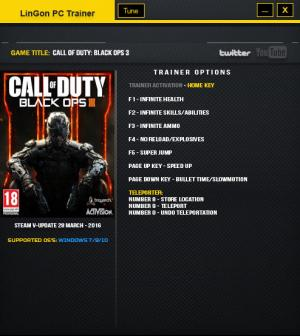 Call of Duty: Black Ops 3 Trainer +9 Update 28 March 2016 {LinGon}