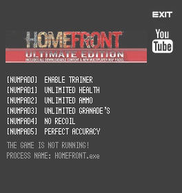 Homefront: Ultimate Edition Trainer +5 v1.5.500001 {LIRW GHL}