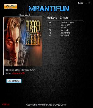 Hard West Trainer +4 v1.4.5 {MrAntiFun}