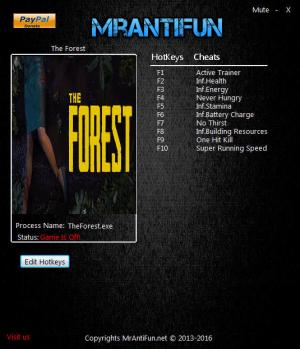 The Forest Trainer +9 v0.37 {MrAntiFun}