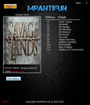 Savage Lands Trainer +11 v0.8.3 Build 179: x64 {MrAntiFun}