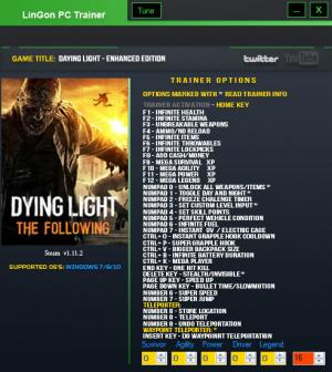 Dying Light: The Following Trainer +35 v1.11.2  {LinGon}