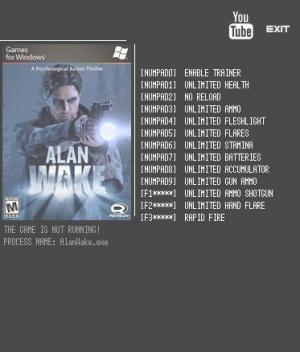Alan Wake Trainer +12 Latest Steam {LIRW GHL}