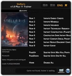 Stellaris Trainer +11 v1.0 {FLiNG}