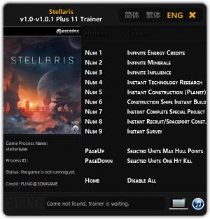Stellaris Trainer +11 v1.0 - 1.0.1 {FLiNG}