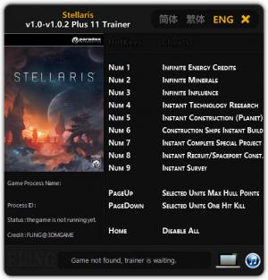Stellaris Trainer +11 v1.0 - 1.0.2 {FLiNG}