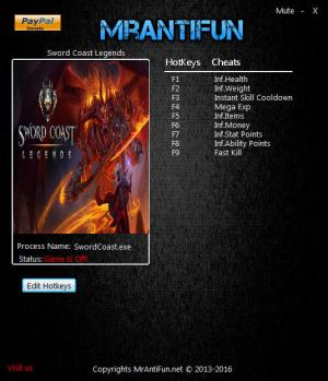 Sword Coast Legends Trainer +9 v19.05.2016 {MrAntiFun}
