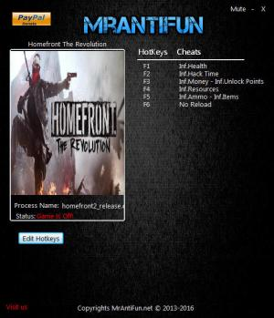 Homefront: The Revolution Trainer +8 v1.01 {MrAntiFun}