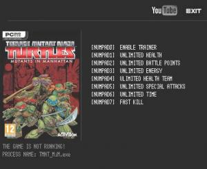 Teenage Mutant Ninja Turtles: Mutants in Manhattan Trainer +7 v1.0 {LIRW GHL}