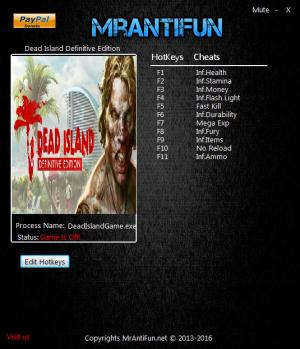 Dead Island: Definitive Edition Trainer +11 v1.0 {MrAntiFun}