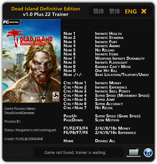 Dead Island Definitive Cheats