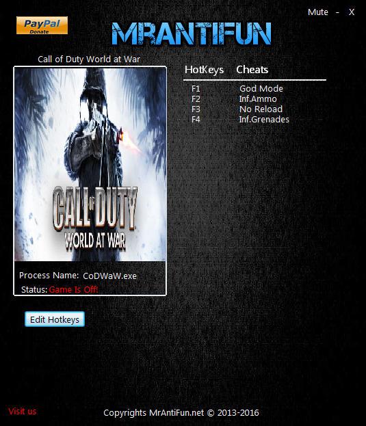Call Of Duty 5: World At War Cheats, Codes, Cheat Codes ...