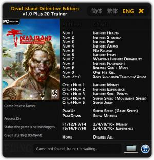 Dead Island: Definitive Edition Trainer +20 v1.0 {FLiNG}