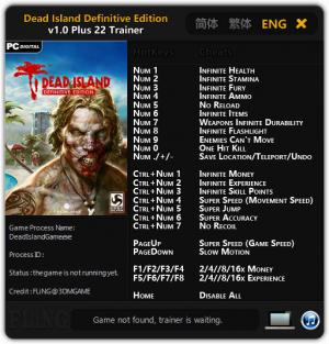 Dead Island: Definitive Edition Trainer +22 v1.0 {FLiNG}
