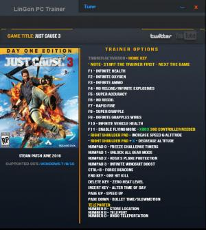 Just Cause 3 Trainer +24 Up 02.06.2016 {LinGon}