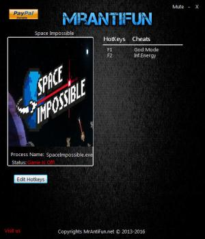 Space Impossible Trainer +2 v1.5.2730 {MrAntiFun}