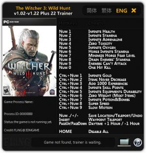 The Witcher 3: Wild Hunt Trainer +22 v1.02 - 1.22 {FLiNG}