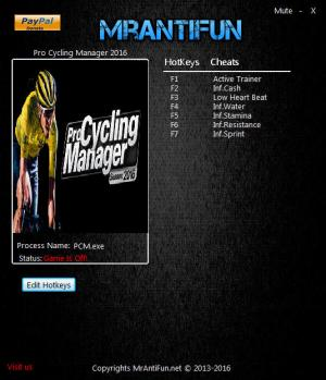 Pro Cycling Manager 2016 Trainer +6 v1.1.0.1 {MrAntiFun}