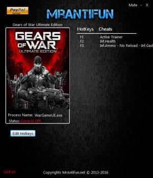 Gears of War: Ultimate Edition Trainer +4 v1.10.0.0 {MrAntiFun}