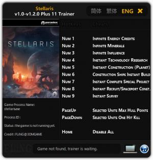 Stellaris Trainer +11 v1.0 - 1.2.0 {FLiNG}