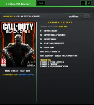 Call of Duty: Black Ops 3 Trainer +9 Update 23 {LinGon}