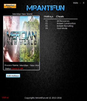 Meridian: New World Trainer +4 v1.04 {MrAntiFun}