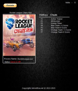 Rocket League: Chaos Run Trainer +6 v1.0.10897  {MrAntiFun}