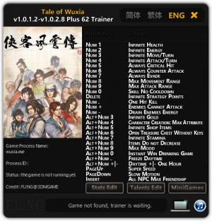 Tale of Wuxia Trainer +62 v1.0.1.2 - 1.0.2.8 {FLiNG}