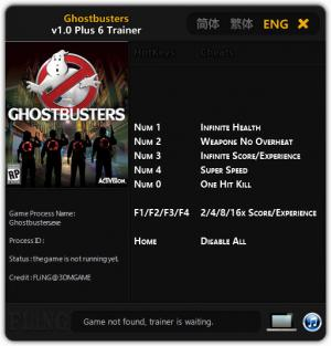Ghostbusters Trainer +6 v1.0 {FLiNG}
