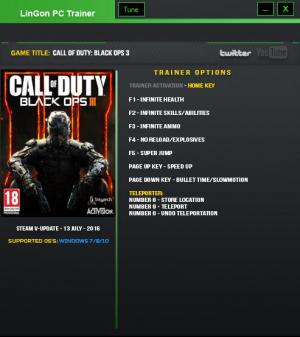 Call of Duty: Black Ops 3 Trainer +9 Update 24 {LinGon}