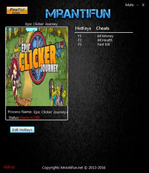 Epic Clicker Journey Trainer +3 v07.23.2016 {MrAntiFun}