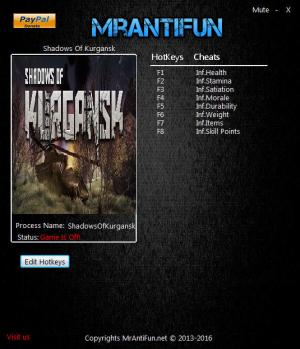 Shadows Of Kurgansk Trainer +8 v0.1.45 {MrAntiFun}
